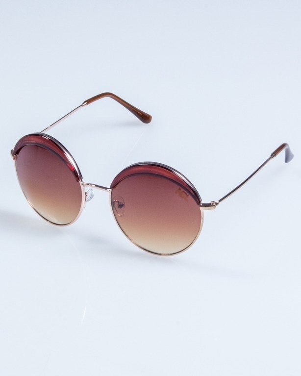 OKULARY LADY COSMO GOLD-BROWN BROWN 703