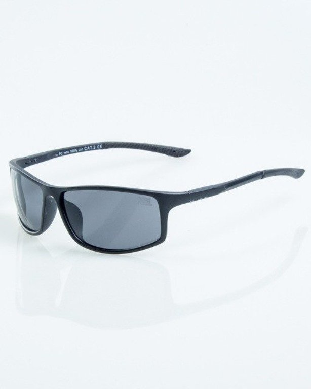 OKULARY BIKER BLACK MAT RUBBER BLACK 1049