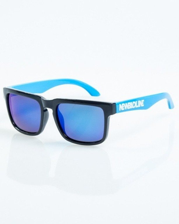 OKULARY MODERN BLACK-BLUE FLASH BLUE MIRROR POLARIZED 1060