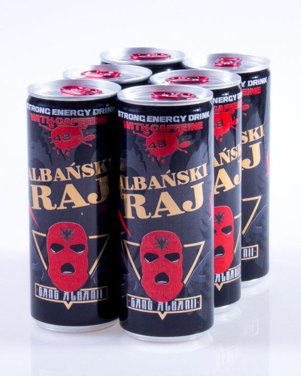 ALBAŃSKI RAJ STRONG ENERGY DRINK 6 SZT