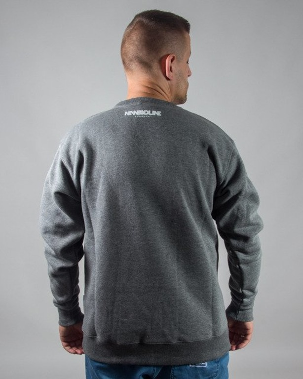 BLUZA BEZ KAPTURA CRIME GREY