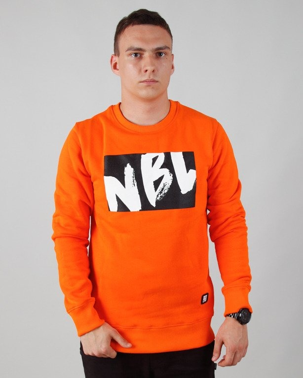 BLUZA BEZ KAPTURA DRAW ORANGE