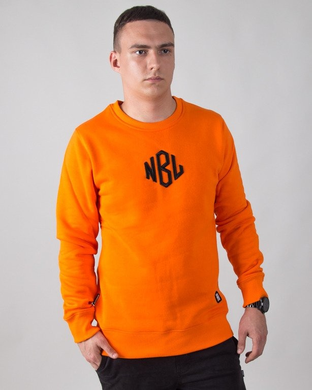 BLUZA BEZ KAPTURA ROMB ORANGE