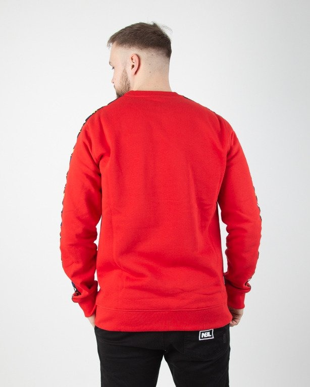 BLUZA BEZ KAPTURA TAPE RED