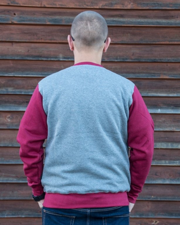 BLUZA CREWNECK SHIELD GREY-BRICK