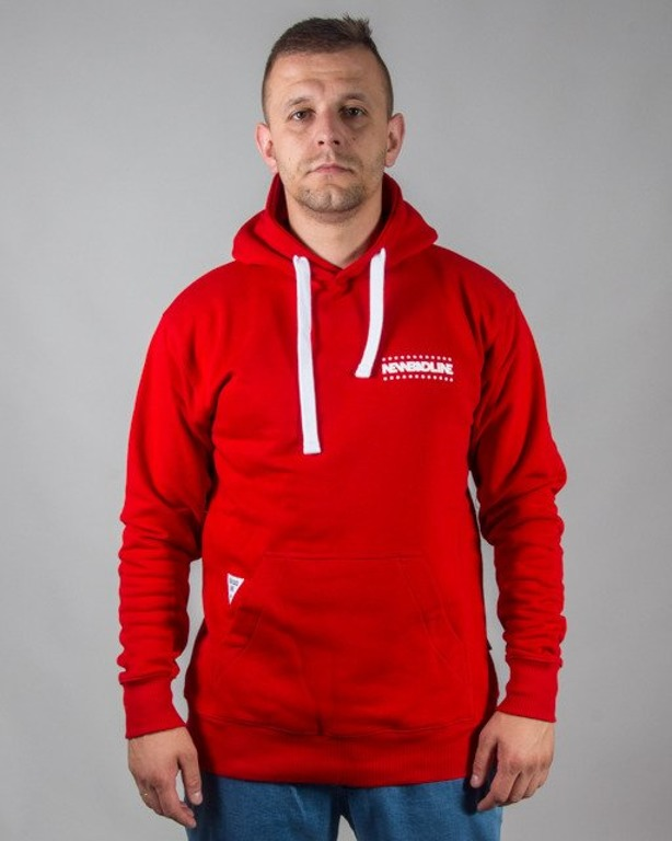 BLUZA Z KAPTUREM SWAG RED