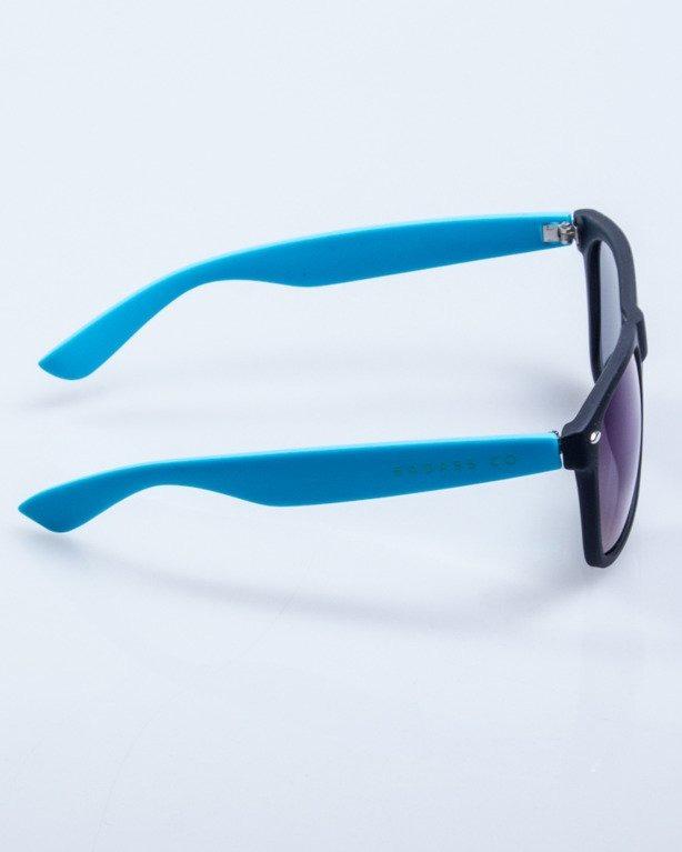 CLASSIC HALF BLACK-BLUE RUBBER BLUE MIRROR 553