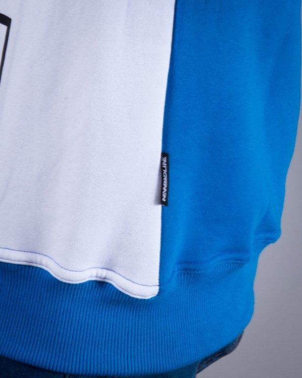 NEW BAD LINE BLUZA BEZ KAPTURA EASY BLUE-WHITE