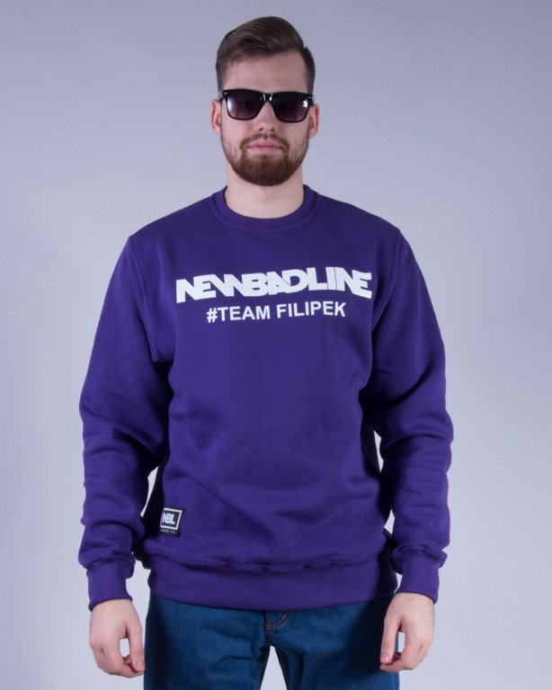 NEW BAD LINE BLUZA BEZ KAPTURA #TEAMFILIPEK VIOLET