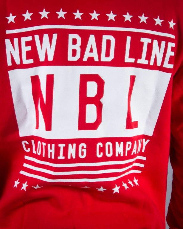 NEW BAD LINE BLUZA Z KAPTUREM SWAG RED