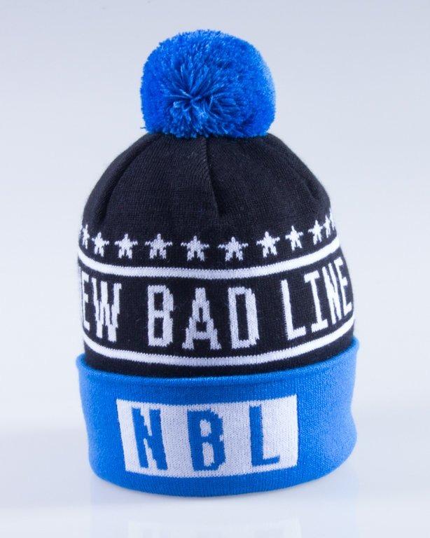 NEW BAD LINE CZAPKA ZIMOWA SWAG BLACK-BLUE