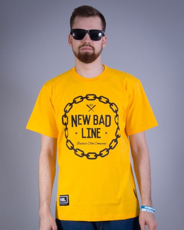 NEW BAD LINE KOSZULKA CHAIN YELLOW