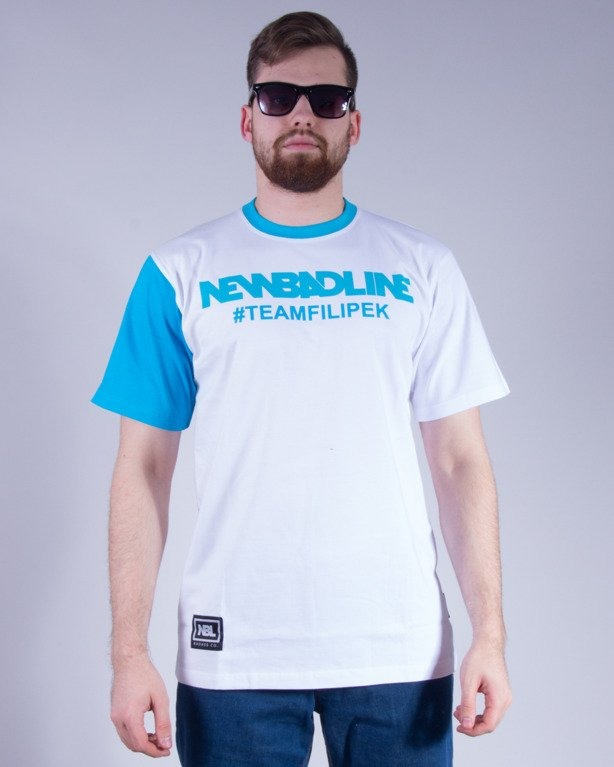NEW BAD LINE KOSZULKA #TEAMFILIPEK WHITE-BLUE