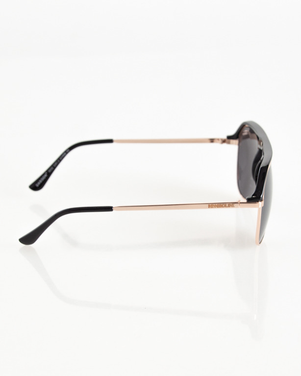 OKULARY ALTERNATIVE GOLD-BLACK FLASH BLACK 087