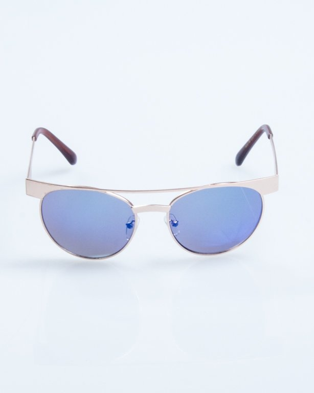 OKULARY AMBER GOLD BLUE MIRROR 781