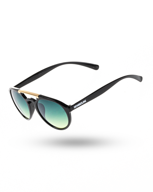 OKULARY BIBI BLACK-GOLD FLASH GREEN 00-59