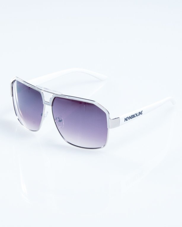 OKULARY BIG STAR WHITE FLASH BLACK 771