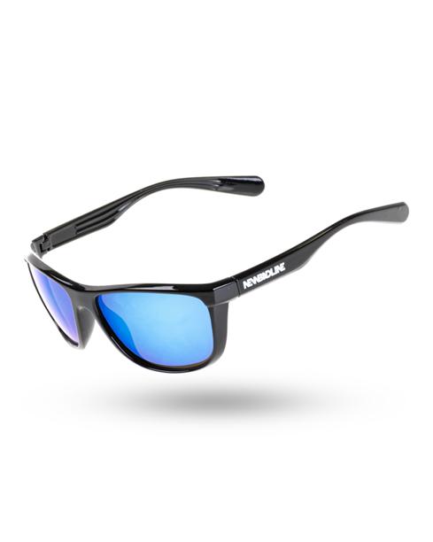 OKULARY BLAZE BLACK FLASH BLUE MIRROR 00-119