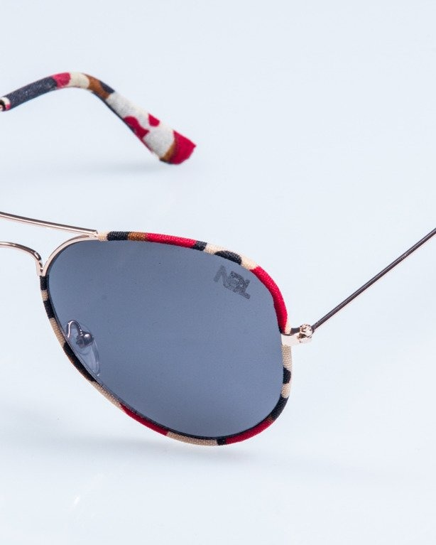OKULARY CAMO METAL GOLD-RED BLACK 686