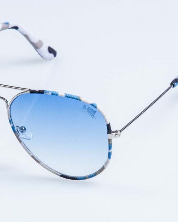 OKULARY CAMO METAL SILVER-BLUE BLUE 687