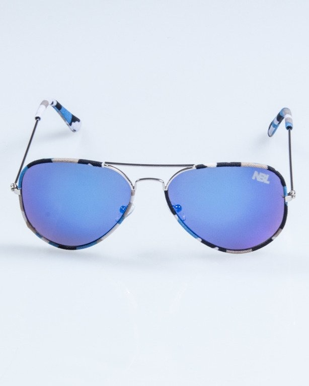 OKULARY CAMO METAL SILVER-BLUE BLUE MIRROR 688