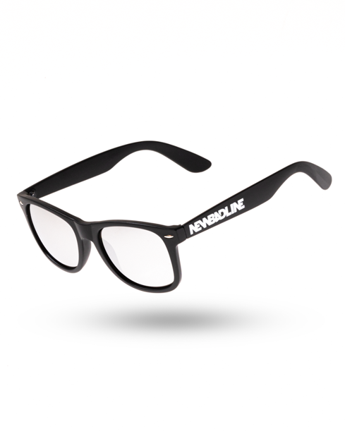 OKULARY CLASSIC BLACK MAT SILVER MIRROR 00-128