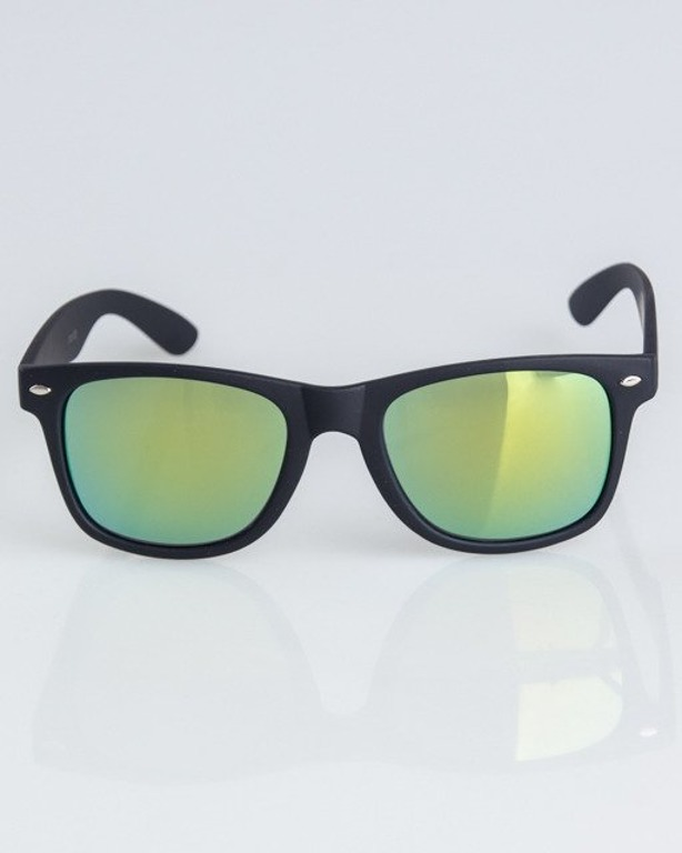 OKULARY CLASSIC BLACK RUBBER YELLOW MIRROR 1310
