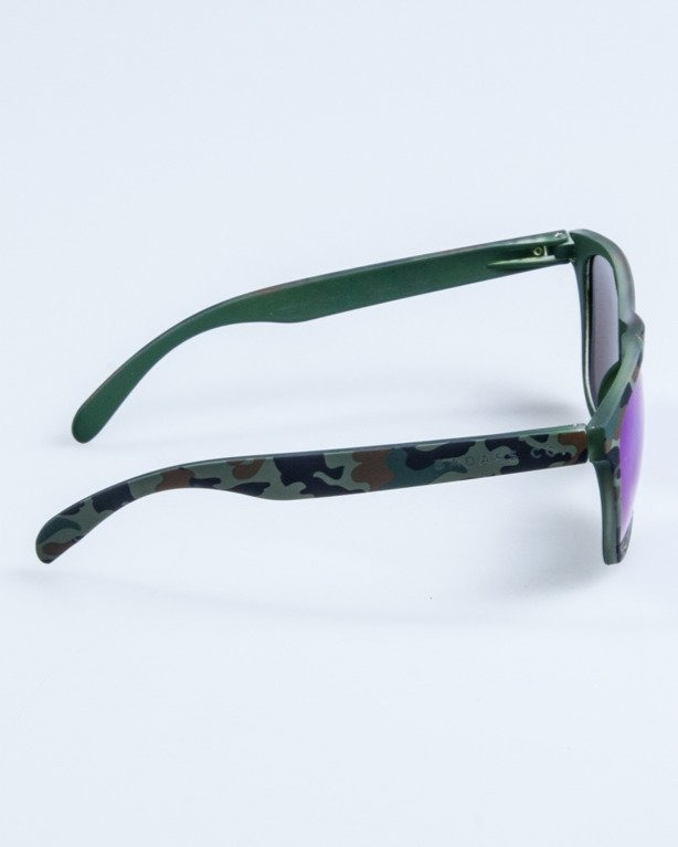 OKULARY CLASSIC CAMO GREEN RUBBER GREEN MIRROR 682