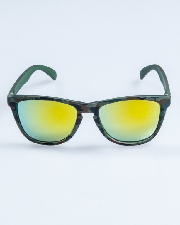 OKULARY CLASSIC CAMO GREEN RUBBER YELLOW MIRROR 681