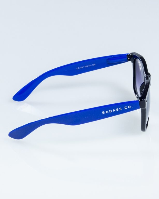 OKULARY CLASSIC HALF  BLACK-BLUE FLASH BLACK HALF 839
