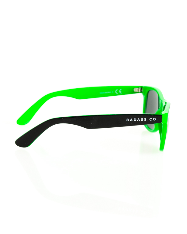 OKULARY CLASSIC INSIDE BLACK-GREEN FLASH BLACK 171