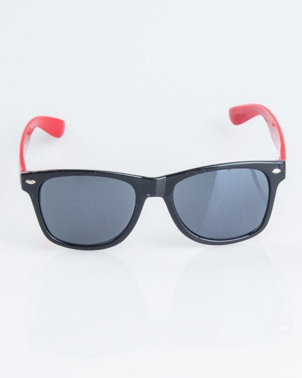 OKULARY CLASSIC HALF BLACK-RED FLASH BLACK 1249