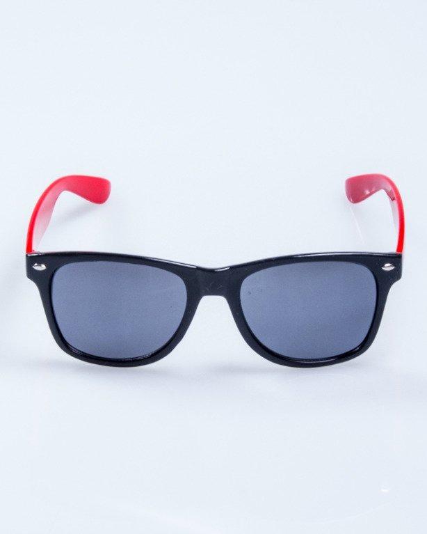 OKULARY CLASSIC HALF BLACK RED FLASH BLACK 550