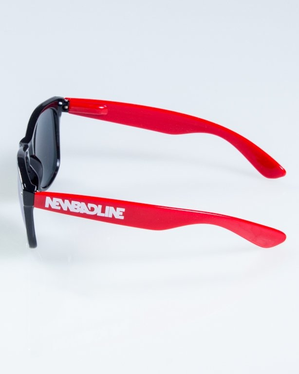 OKULARY CLASSIC HALF  BLACK-RED FLASH RED MIRROR 844