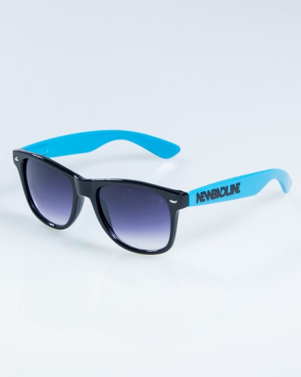 OKULARY CLASSIC HALF  BLACK-TURQUOISE FLASH BLACK HALF 838
