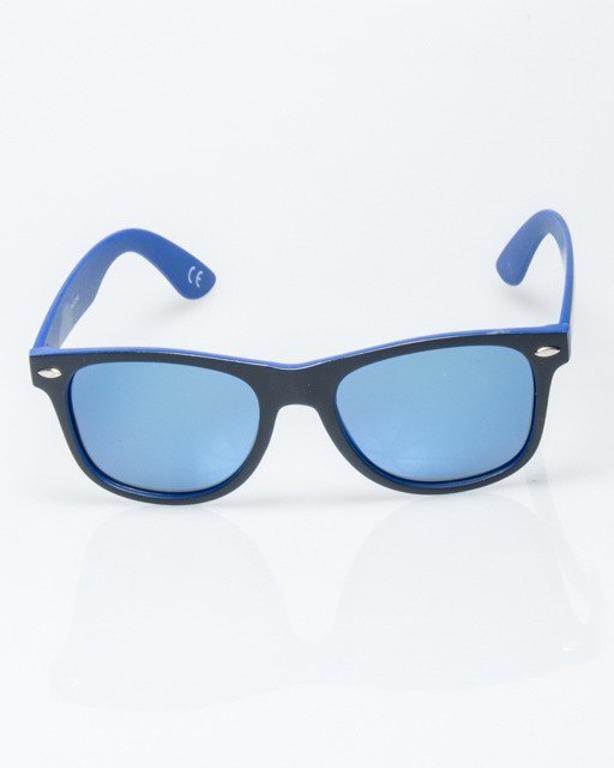 OKULARY CLASSIC INSIDE BLACK-BLUE MAT BLUE MIRROR POLARIZED 1186