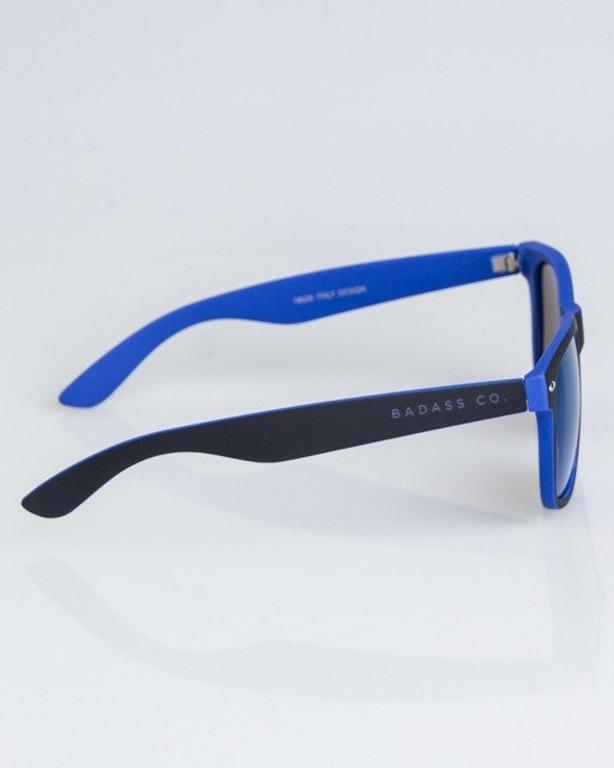 OKULARY CLASSIC INSIDE BLACK-BLUE RUBBER BLUE MIRROR 1324