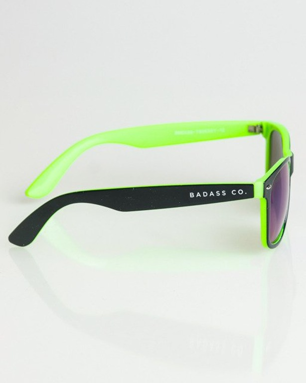 OKULARY CLASSIC INSIDE BLACK-GREEN FLASH GREEN MIRROR 1357