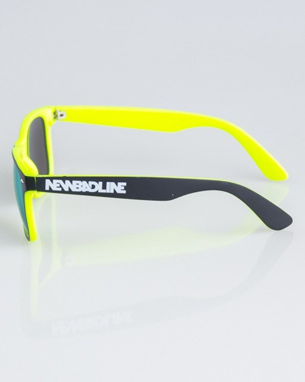 OKULARY CLASSIC INSIDE BLACK-LIME MAT YELLOW MIRROR 1335