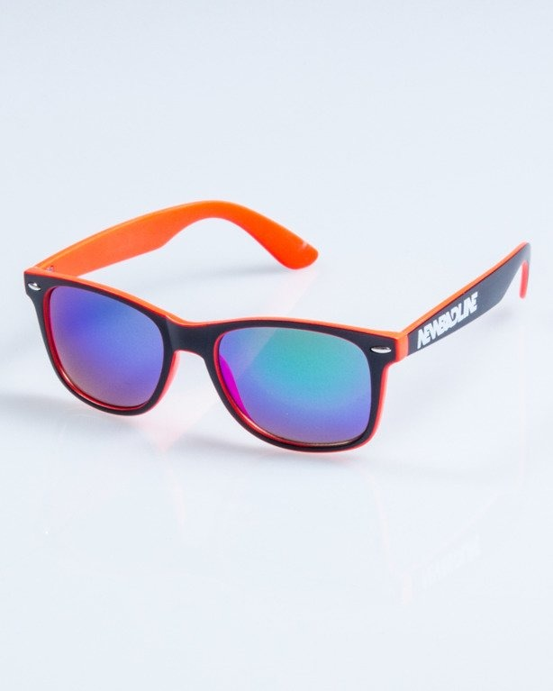 OKULARY CLASSIC INSIDE BLACK-PINK MAT BLUE MIRROR 753