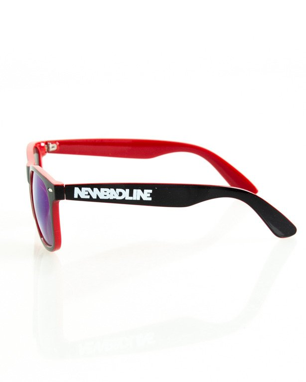 OKULARY CLASSIC INSIDE BLACK-RED FLASH BLUE MIRROR 140