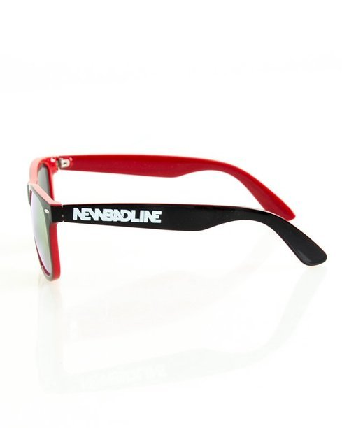 OKULARY CLASSIC INSIDE BLACK-RED FLASH RED MIRROR 138