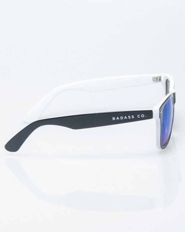 OKULARY CLASSIC INSIDE BLACK-WHITE FLASH BLUE MIRROR 1211