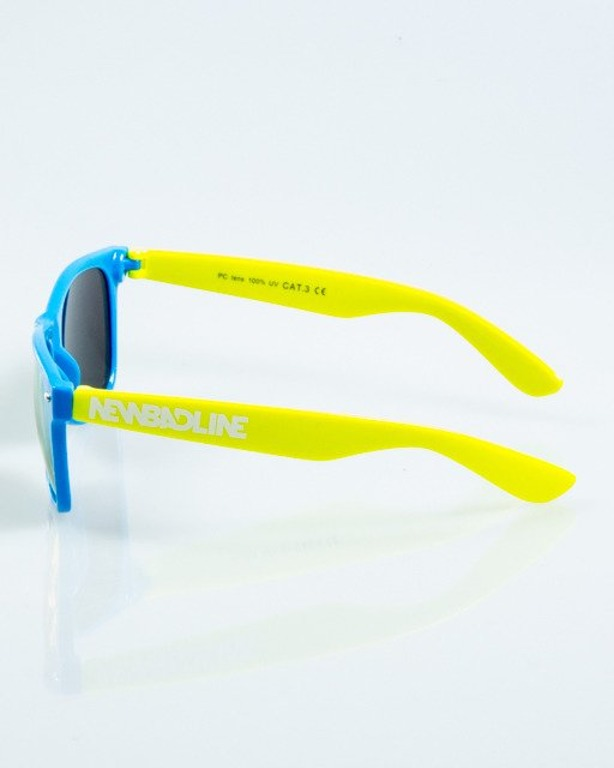 OKULARY CLASSIC INSIDE BLUE-YELLOW FLASH YELLOW MIRROR 1045