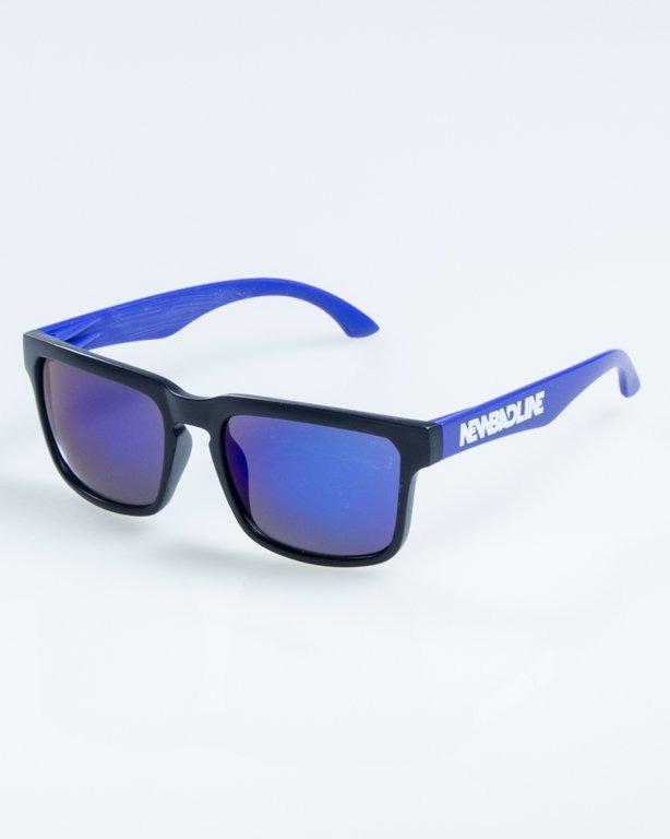 OKULARY CLASSIC MODERN HALF MAT BLACK-BLUE BLUE MIRROR 860