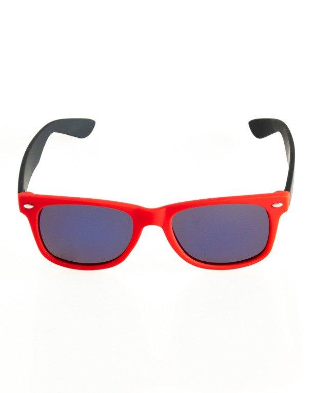 OKULARY CLASSIC POLARIZED BLACK-RED RUBBER BLUE 127