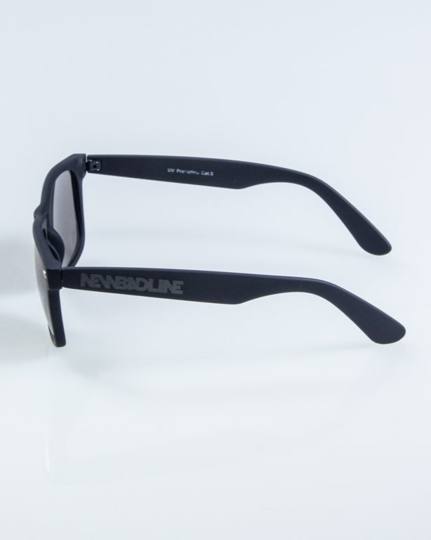 OKULARY CLASSIC RUBBER BLACK BLUE MIRROR 905