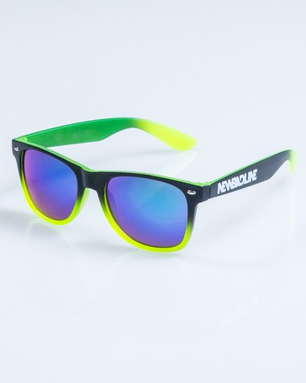OKULARY CLASSIC TONAL BLACK-NEON MAT GREEN MIRROR 758
