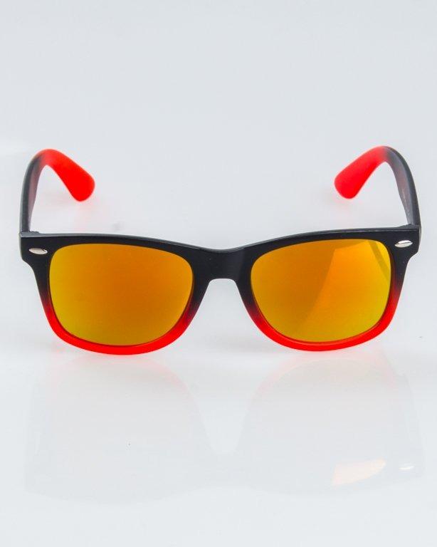 OKULARY CLASSIC TONAL BLACK-RED MAT RED MIRROR 1231