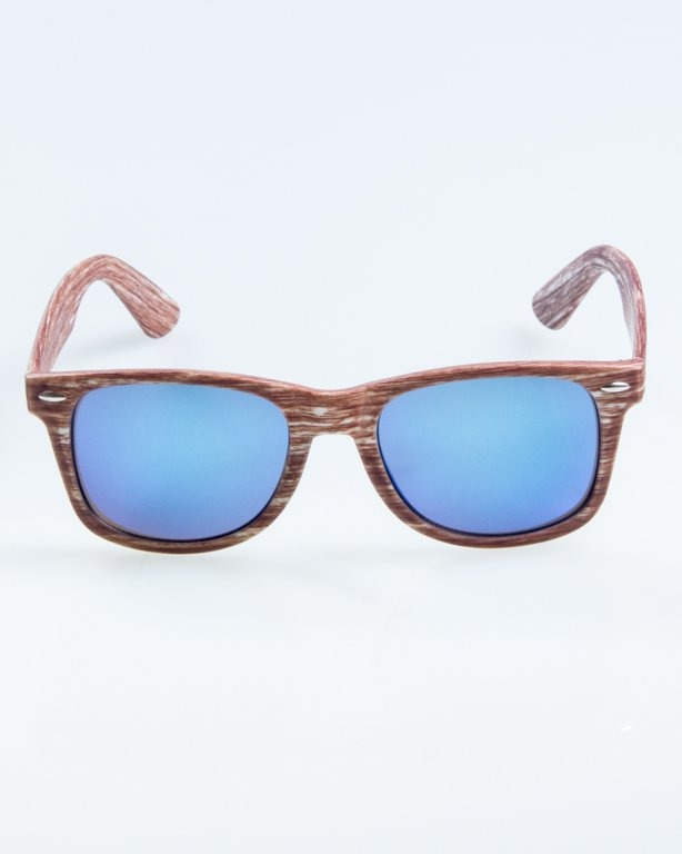 OKULARY CLASSIC WOODY BROWN 2 BLUE MIRROR 887